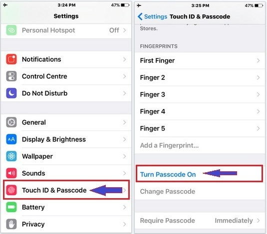 How To Set Passcode On Iphone 6s And 6s Plus Easy Method