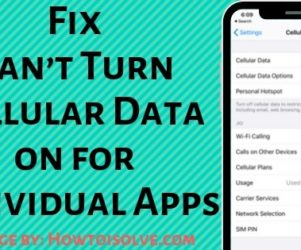 Fix Can't Turn Cellular Data on for Individual Apps on your Apple iPhone