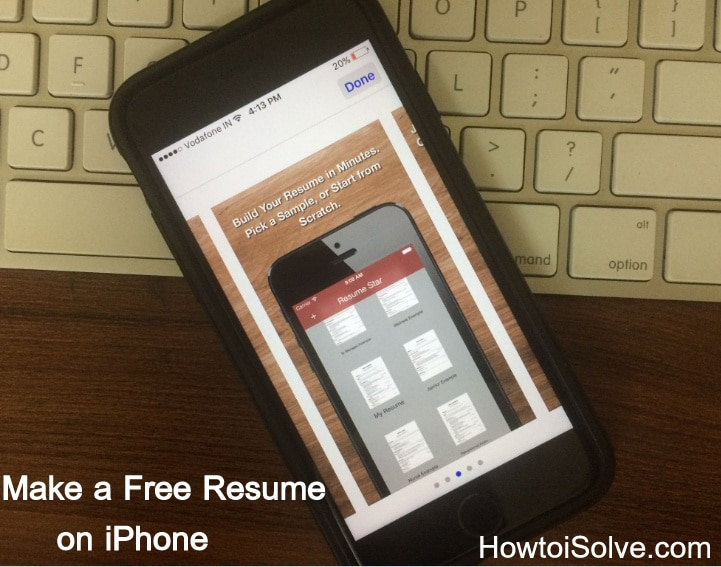 Free CV builder App make a resume on your iPhone yourself