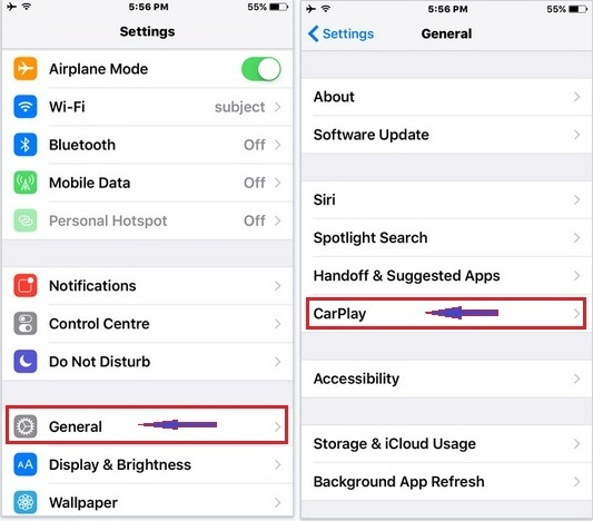How to setup wireless CarPlay on iPhone 6S, iPhone 5S, iPhone 5, iPhone 6