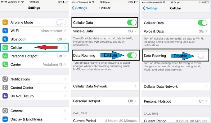 best way on How to turn off data roaming on iPhone 6, iPad Air 2, iPad Minii 3