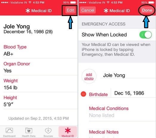 How to update Medical ID on iPhone with iOS 9