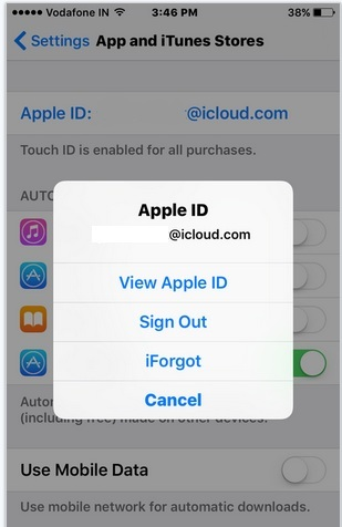 Remove iTunes ID in iPhone
