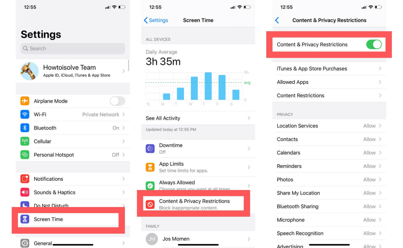 Remove Restrictions for Cellular Data for individual app