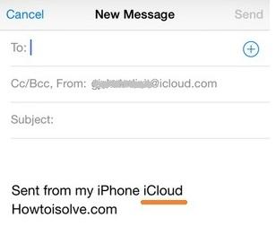 Customize signature in iPhone, iPad mail app