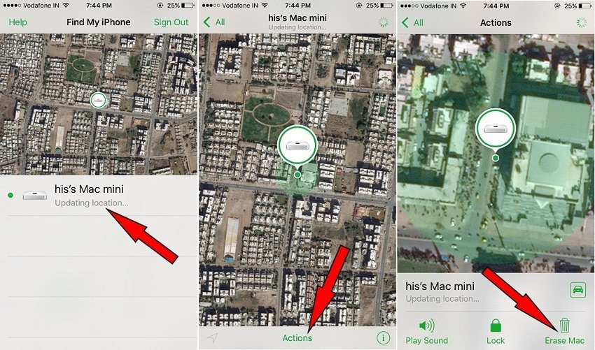 Wipe ios device using Find My iPhone remotely
