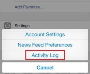 Manage all activity from FB activity log