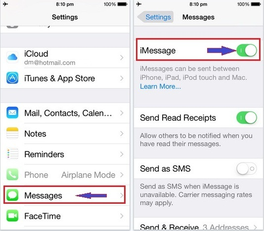 Best alternate fix iMessage not working in iOS 9: iPhone 6S, 6 Plus, iPad Air 2, ipad Mini 3, iPad Min 4, iPod touch 6, iPOd touch 5, iPhone 5S, iPhone 4S