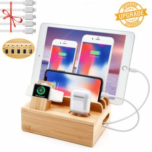 best wood charging station for iPhone apple watch apple airpods