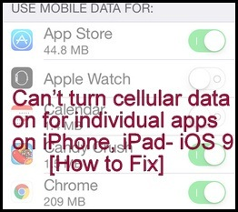Can't Turn Cellular Data on for individual Apps on iPhone: Fixed Here