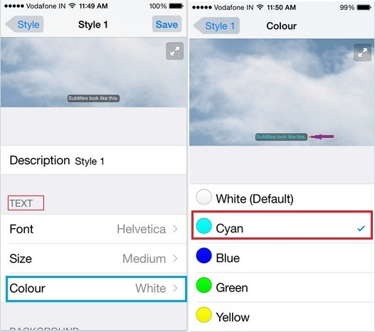 let know here how to do Change YouTube Video Caption font color on iPad Air, iPad Mini