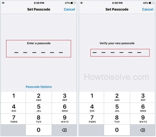 change passcode on iphone set passcode on iphone 6s and 6s plus ios 9 how to 13776