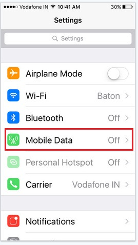 how to enable/ disable or turn off Wi-Fi assist in iOS 9