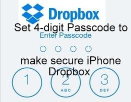 how to reset Dropbox Passcode on iPhone, iPad, iOS 9