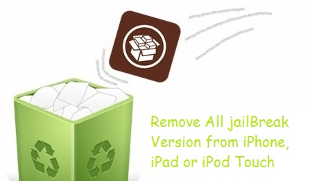 Remove jailbreak from iPhone, iPad and iPod touch