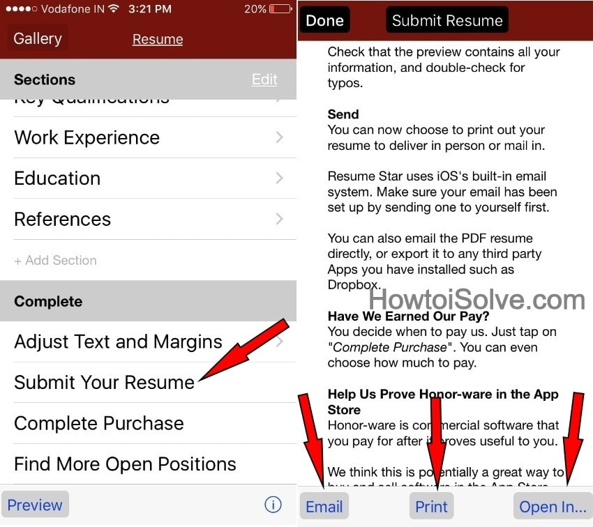 make a resume on your iPhone yourself