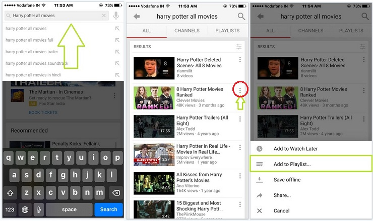 play or watch YouTube video continuously on iPad in iOS 8/9