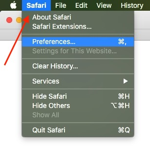 1 Safari Preferences on Mac