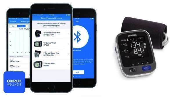 iPhone controlled Blood pressure monitor with iOS 8, iOS 9