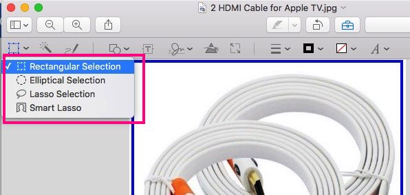 Choose crop tools for cut image portion