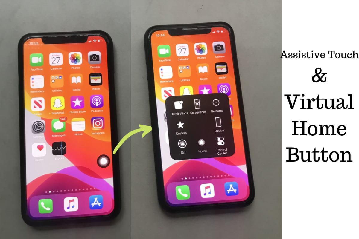 Assistive Touch & Virtual Home Button on iPhone & iPad