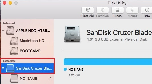 Type disk Utility in Spotlight search