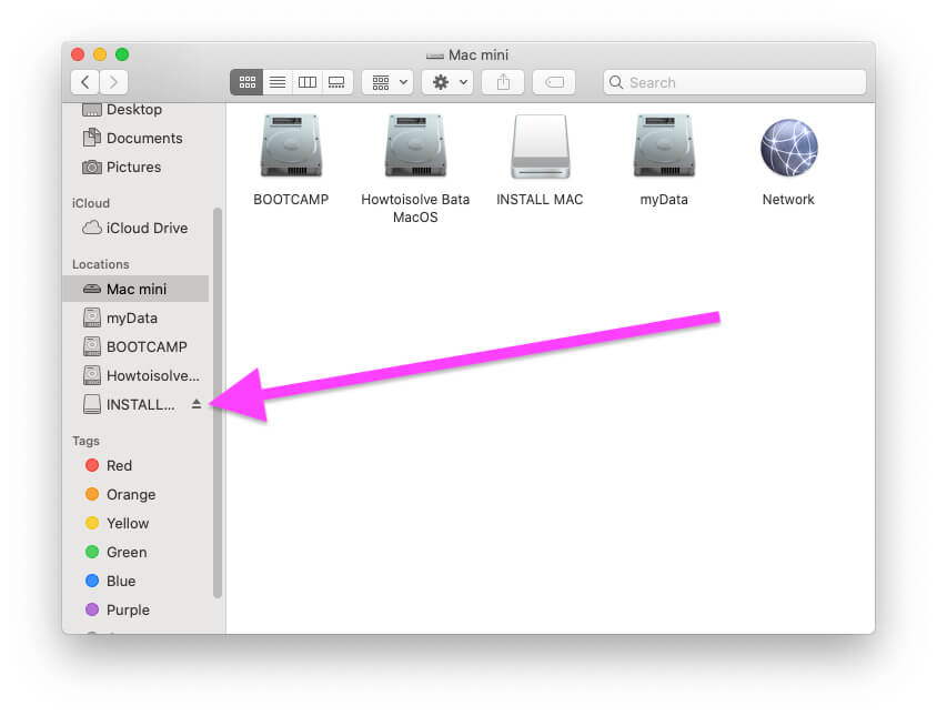 External Drive on Finder Sidebar