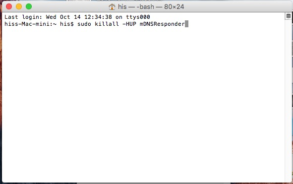 how to Flush DNS Cache in Mac OS X EI Capitan or OS X Yosemite 10.11 and 10.10.4