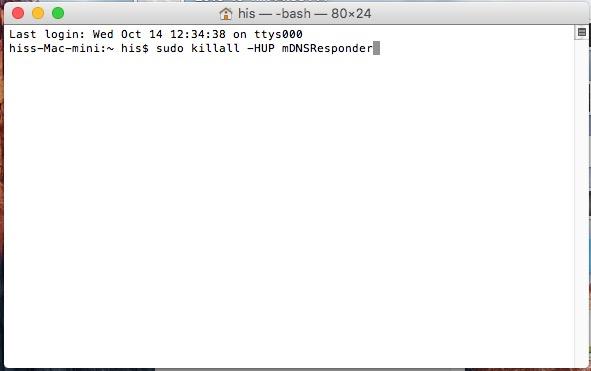 How to flush dns cache in mac os x ei capitan 1011 10104 easy sudo killall hup mdnsresponder how to flush dns cache in mac os x ei capitan or os x yosemite 1011 ccuart Images