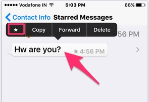 how to find star messages in whatsapp