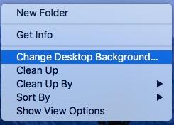 Option for set desktop background