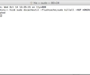 reset flush dns on mac os x 10.11
