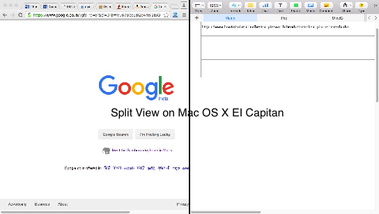 Split View on Mac