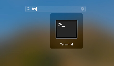 Start Terminal on macbook