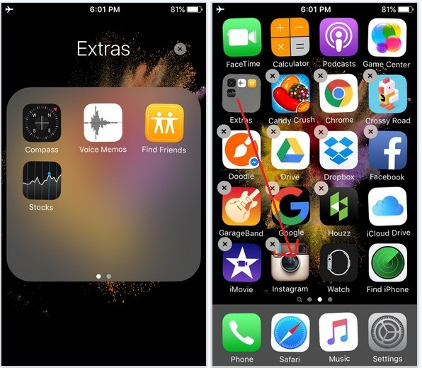 How to Hide Stock app icon on iPhone 6S home screen: iPhone 6S plus iOS 9