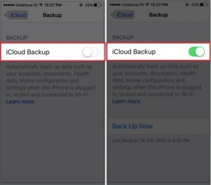How to Enable iCloud backup on iPhone and iPad: iOS 10/ iOS 11 or later