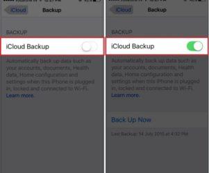 How to turn on iCloud backup on iPhone/iPad: iOS 9,iOS 8