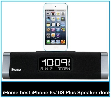 iHome best iPhone 6S Speaker + alarm docking Station under 100 dollars