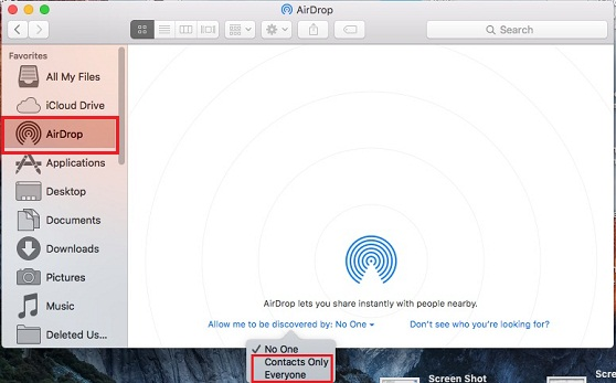 handy way turn on airdopr for iOS 9 on Mac