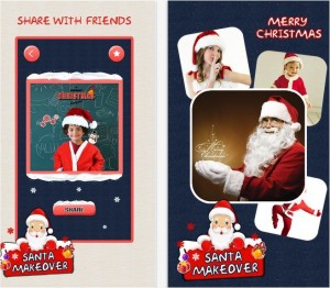 Makeover santa app for iOS device