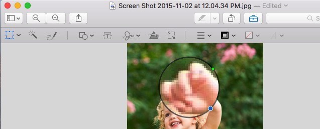 Point to object in Picture on Mac Preview