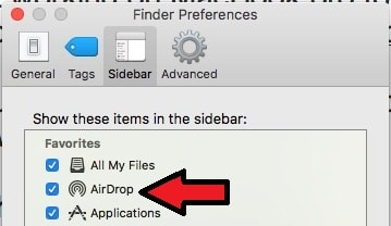 4 AirDrop on Finder Sidebar Mac