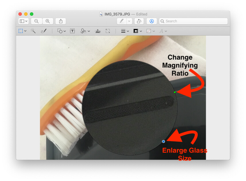 Change Magnifying Glass Size on Preview on Mac