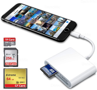 DenicMic SD CF Card Reader for iPhone