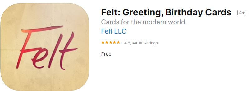 Felt for Christmas Greeting, Birthday Cards for iPhone and iPad