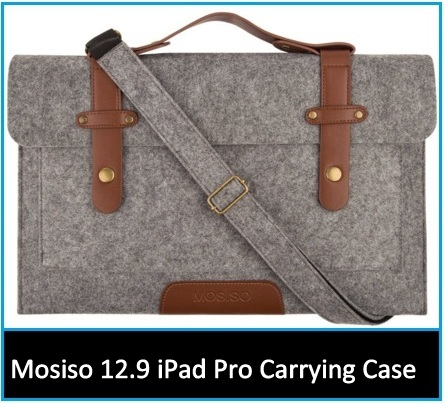 top best Mosiso 12.9-inch iPad Pro case with shoulder Strap