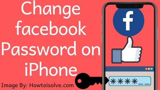 How to Change Facebook password on Apple iPhone mobile Pc computer