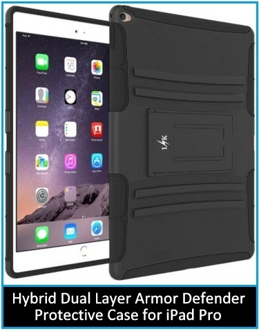 Hybrid Dual Layer Armor Defender Protective Case Cover with Kickstand for Apple iPad Pro 12.9 inches