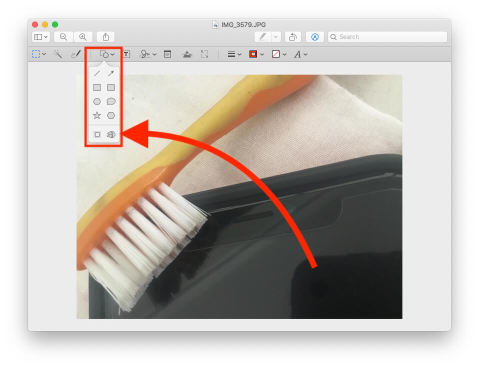Инструмент увеличительного стекла в предварительном просмотре на Mac