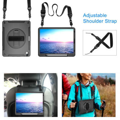 Miesherk Heavy Duty iPad Pro Case with Hand Strap